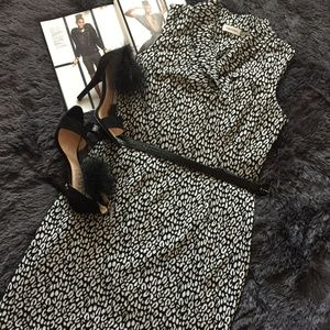 Calvin Klein Black & White Dress
